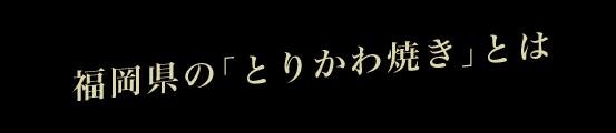 福岡県の「とりかわ焼き」とは